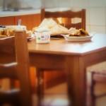 Light breakfast at Skyros penthouse Kolympada