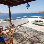 balcony of Aegean penthouse Kalamitsa